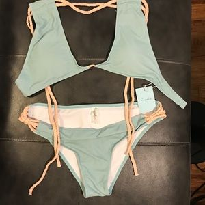 Cupshe Swim - Cupshe bikini BOTTOMS- aqua/cream